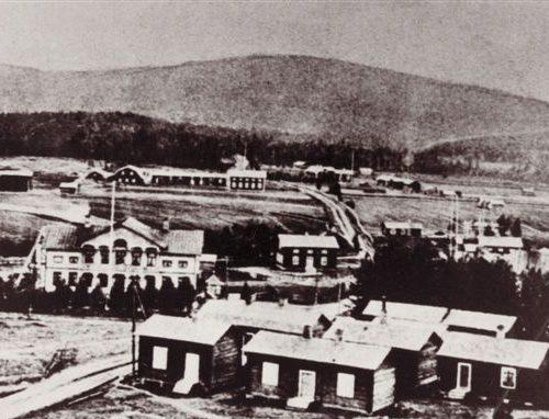 Utsikt från kyrktornet 1905