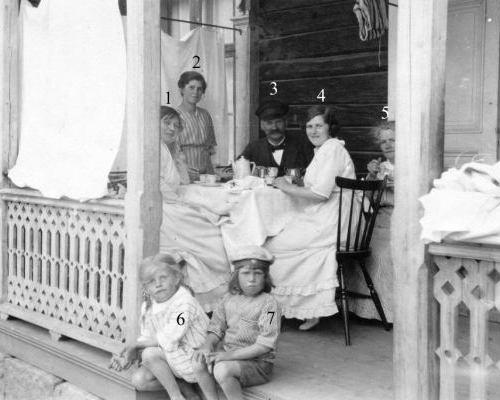 Handlare Oskar Erikssons familj år 1919, Kyrkostigen 8