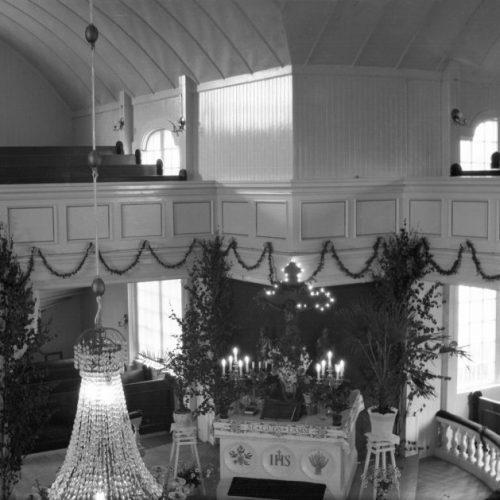 Interiör Älvsbyns kyrka troligen 1923-24