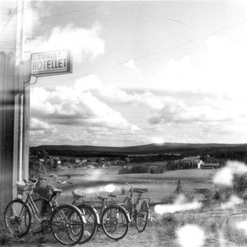 Cykelparkering vid Turisthotellet