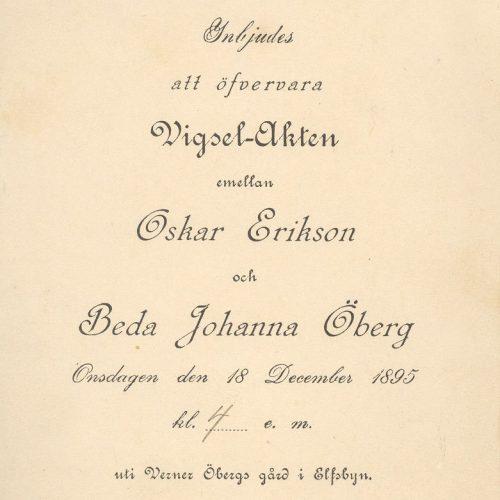 Oskar Eriksson och Beda Öberg