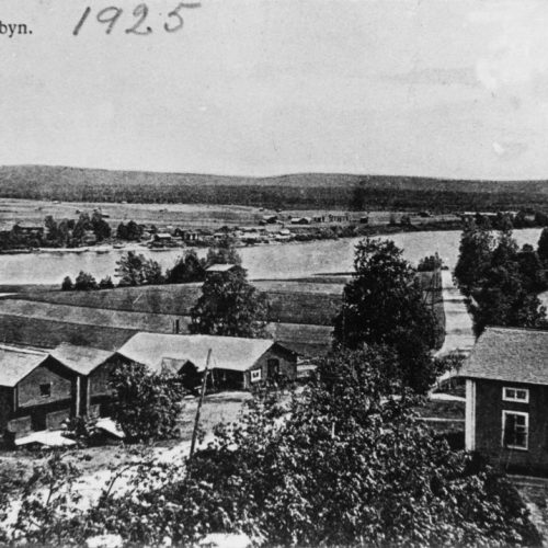 Utsikt över Östermalm och Norra Byn år 1925