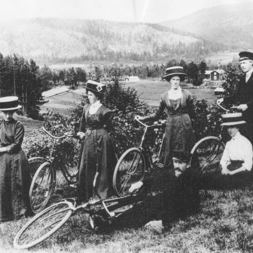 Cyklister på Gammelvägen