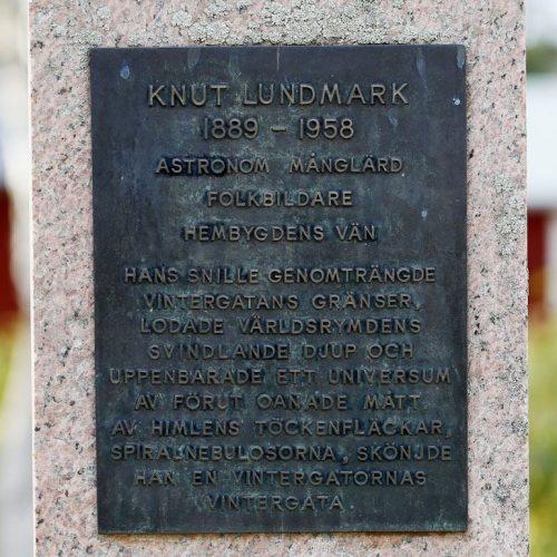 Knut Lundmark minnesmonument