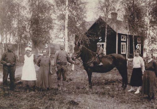 Familjen Arvid Grönlund på Knusen i Fleviken