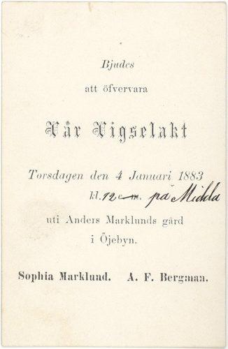 Alf Bergman och Sophia Marklund
