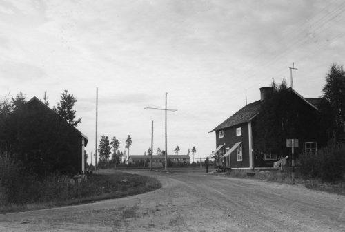 Vykort Manjärv från 40-talet