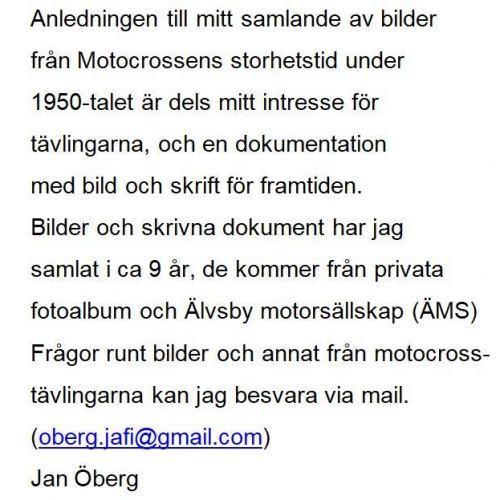 Motocrossen text Jan Öberg