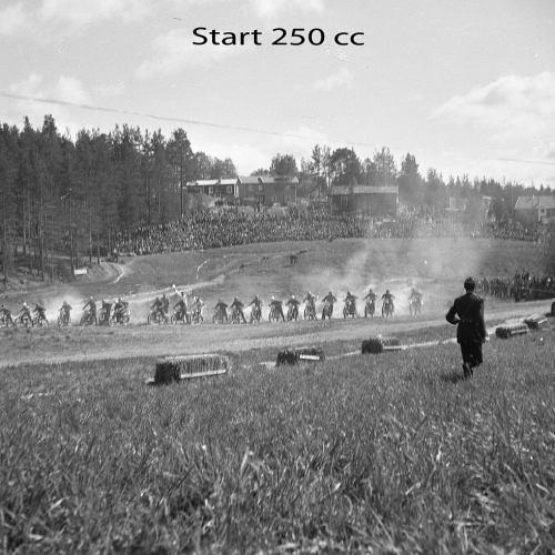 Motocross i Älvsbyn 1950 talet.