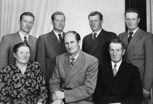 Betty o Johan Bergman med söner