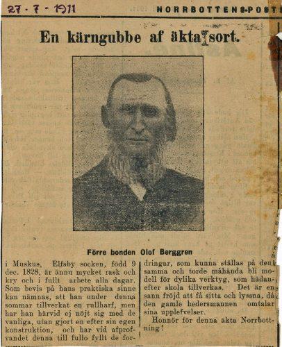 Olof Berggren f. 1828-12-09 Muskus.