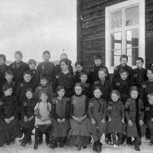 1914 skolklass Muskus
