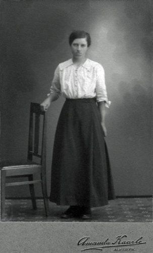 Anna Vilhelmina Boqvist f. 1891-05-26 Nystrand
