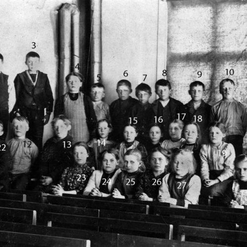 1912 skolklass i Nystrand