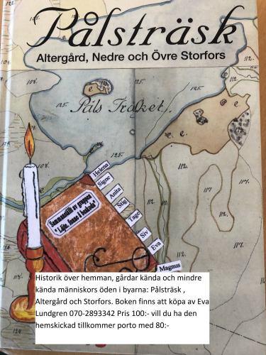 Boken om: Pålsträsk, Altergård och Storfors.
