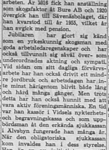 Lagerskog Karl Leonard Bredsel 75 år 4 April 1964 NK