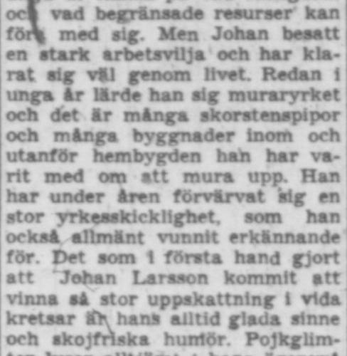 Larsson Johan Vistheden 65 år 15 maj 1957 PT