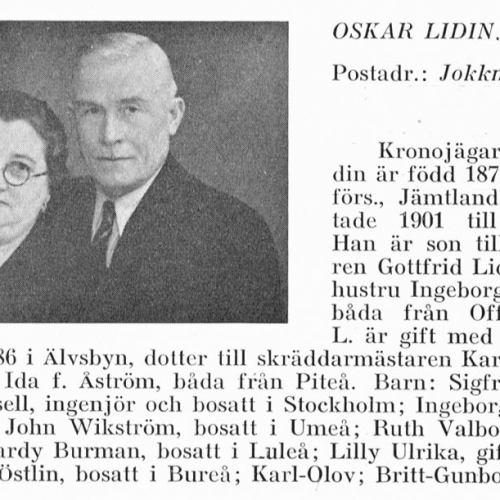 Lidin Oskar & Olsson Ruth Från Svenskt Porträttarkiv