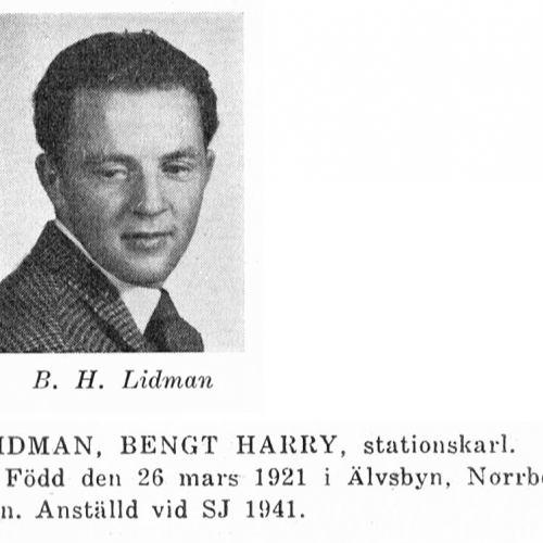 Lidman Bengt 19210326 Från Svenskt Porträttarkiv