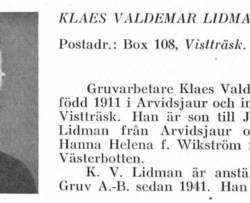 Lidman Klaes 1911 Från Svenskt Porträttarkiv