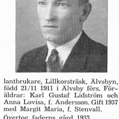 Lidström Einar 19111121 Från Svenskt Porträttarkiv
