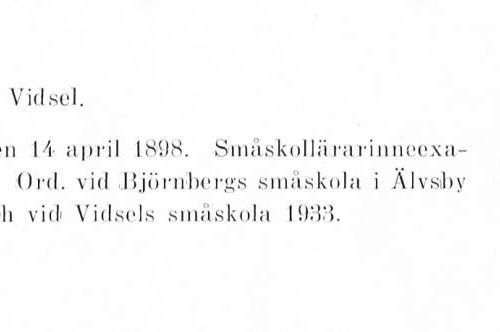 Lidström Elin 18980414 Från Svenskt Porträttarkiv a