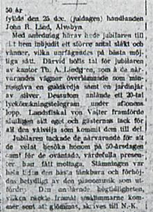 Lind John Richard 50 år 30 dec 1920 Nk