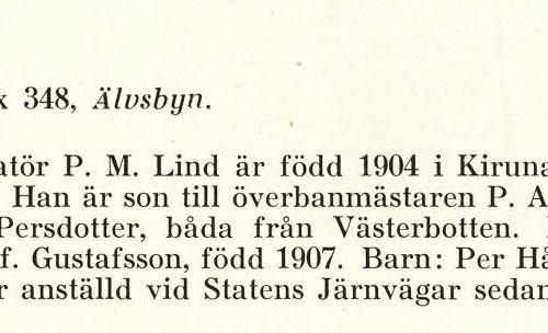 Lind Per Manfred Från Boken Svensk Familjekalender Tryckt 1945