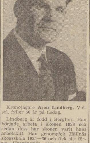 Lindberg Aron Vidsel 50 år 20 maj 1963 nfl