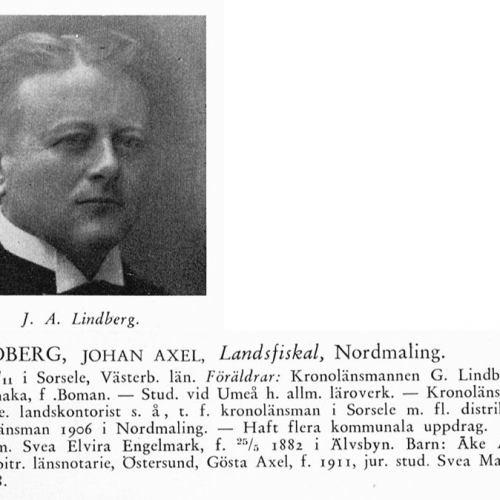 Lindberg Johan 18771105 Från Svenskt Porträttarkiv
