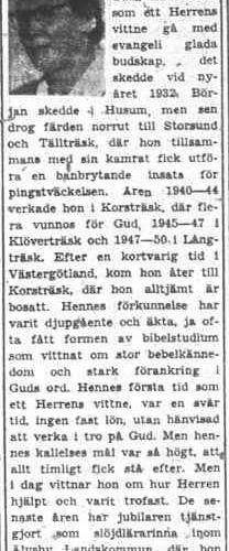Lindberg Olga Korsträsk 50 år 27 Juli 1956 PT