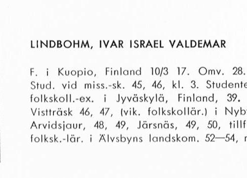 Lindbohm Ivar 19170310 Från Svenskt Porträttarkiv