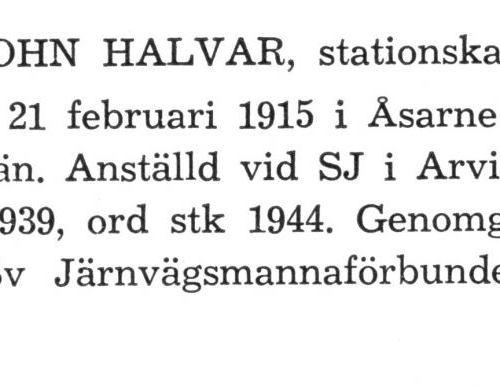 Linden John Halvar Från boken Sveriges Järnvägsstationer tryckt 1949