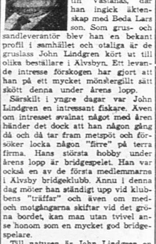 Lindgren John Älvsbyn 60 år 14 Feb PT