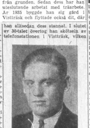 Lindgren Karl Vistträsk 50 år 27 Feb 1958 NK