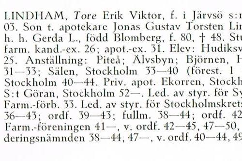 Lindham Tore 19030228 Från Svenskt Porträttarkiv c