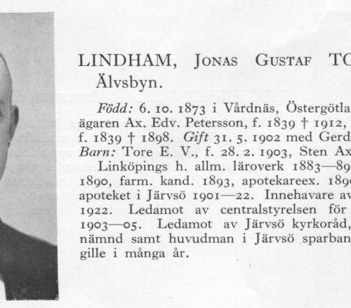 Lindham Torsten 18731006 Från Svenskt Porträttarkiv a