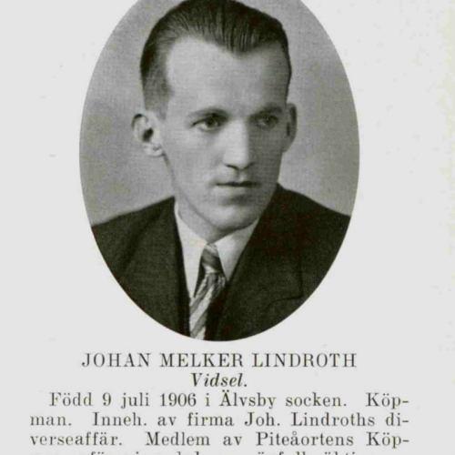 Lindroth Johan Melker Vidsel