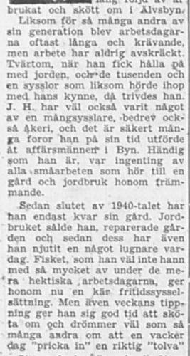 Lindström Johan Helmer Älvsbyn 75 år 16 Nov 1956 PT