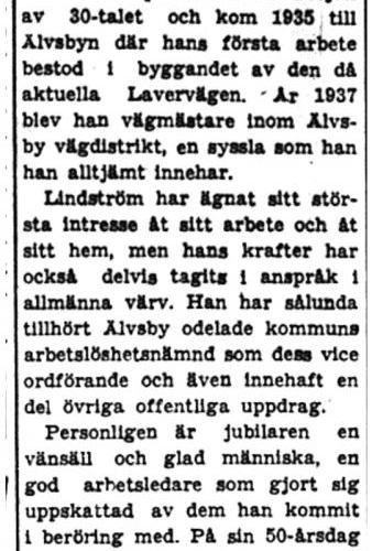 Lindström Nils E Älvsbyn 50 år 14  juli 1949 PT