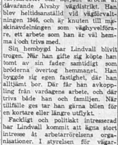 Lindvall Petter Nygård 50 år 14 Maj 1962 NK