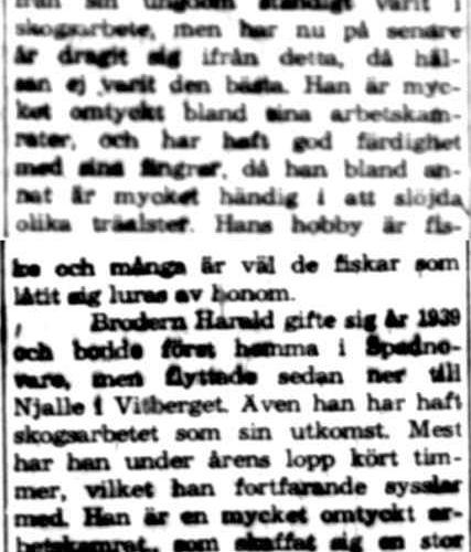 Lund Harald och Hilding Vitberget 50 år 16 Juli 1960 NK