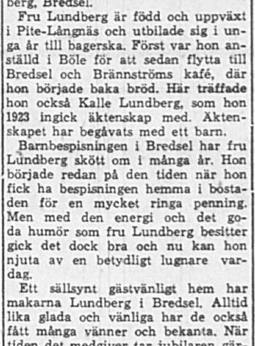 Lundberg Alida Bredsel 65 år 25 Jan 1965 PT