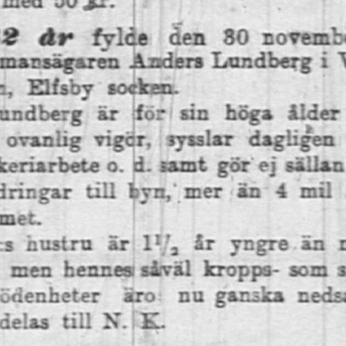 Lundberg Anders Warisån 82 år 9 Dec 1904 NK