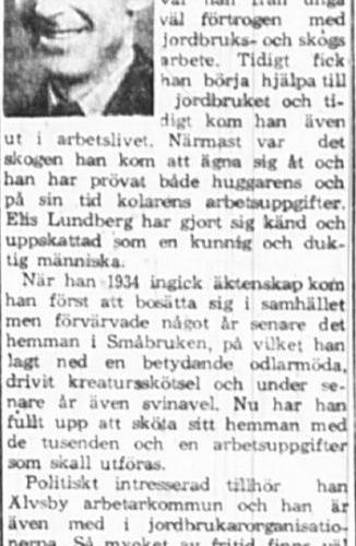 Lundberg Elis Nedre Småbruken 60 år 12 Aug 1965 PT