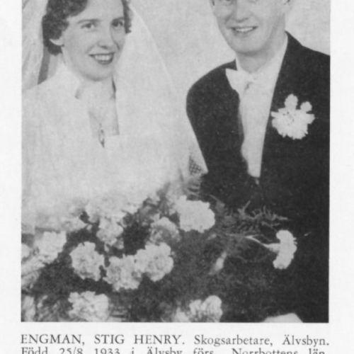 Lundberg Gerda & Engman Stig Henry Från Svenskt Porträttarkiv