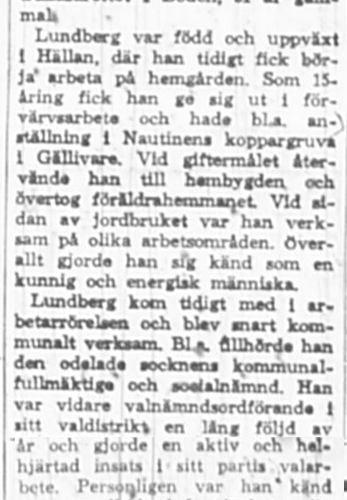 Lundberg Johan Hällan död 10 Nov 1966 NSD