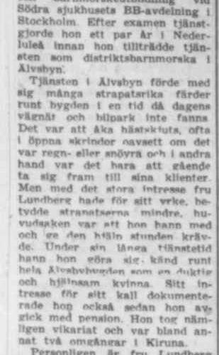 Lundberg Judith Elida Älvsbyn 70 år 29 Juni 1957 PT