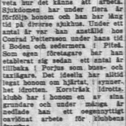 Lundberg Karl Korsträsk 50 år 15 Mars 1955 NK