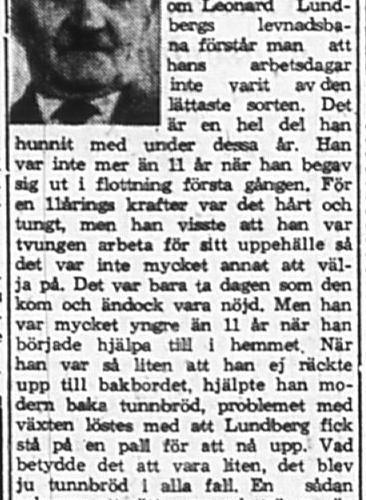 Lundberg Leonard Sävdal Vidsel 85 år 10 Sept 1965 PT